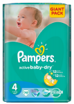 Pampers Active baby 4 maxi 7 - 14 kg 76 ks