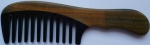 Magnum Wooden comb guaiacum wood and horn with handle