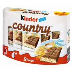 Ferrero Kinder Country 9 x 23,5g Exp. 4.4.2019